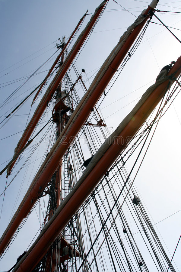 корабль рангоута стоковое фото