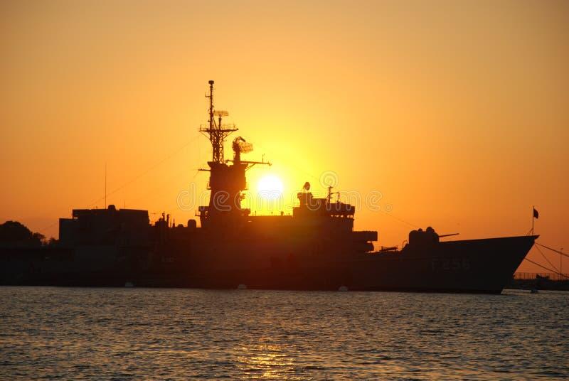 корабль сражения стоковое изображение rf