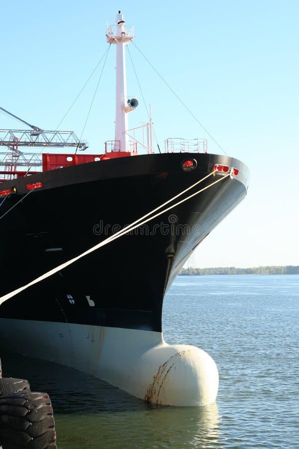 корабль стыковки 3 контейнеров стоковые фотографии rf