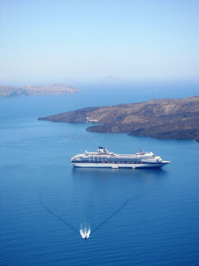 корабль santorini стоковое фото