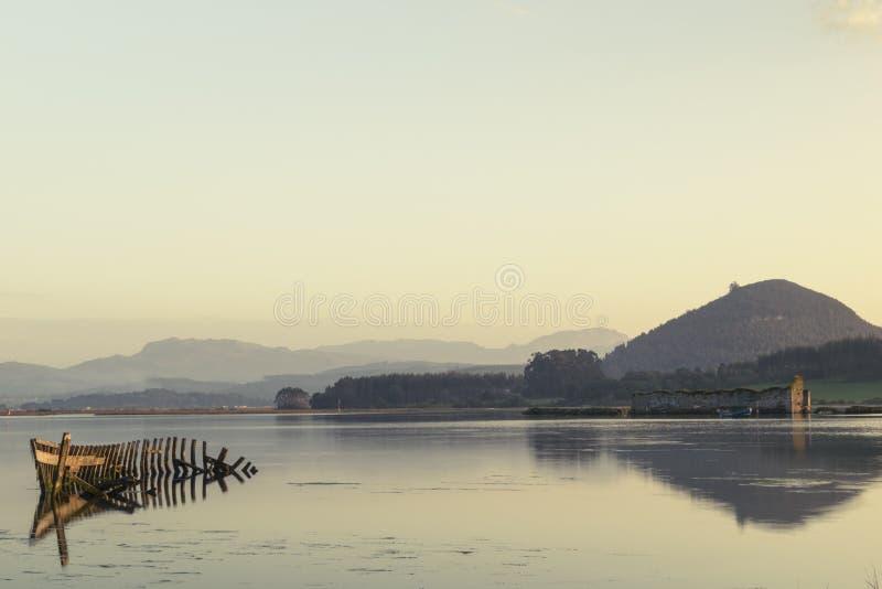 корабль sunken стоковая фотография