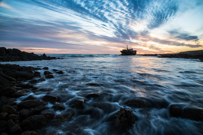 Кораблекрушение на накидке Agulhas, Южной Африке стоковые фотографии rf