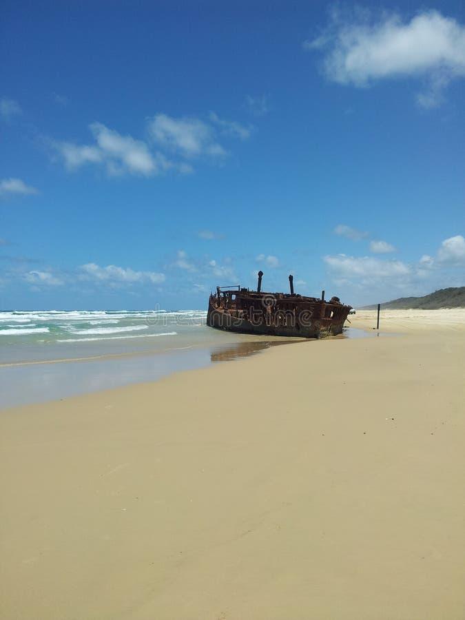 Кораблекрушение Maheno стоковое фото rf