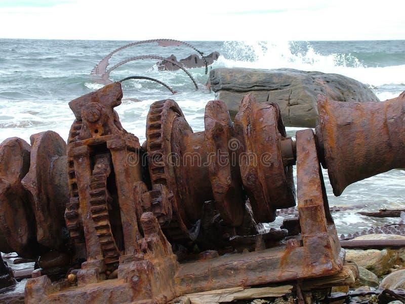 Кораблекрушение SS Ethie, пункт ` s Мартина, Ньюфаундленд стоковые фото