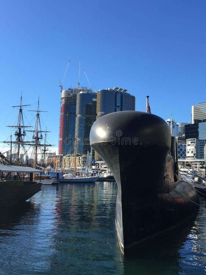 Корабли в дисплее гавани морском стоковые изображения