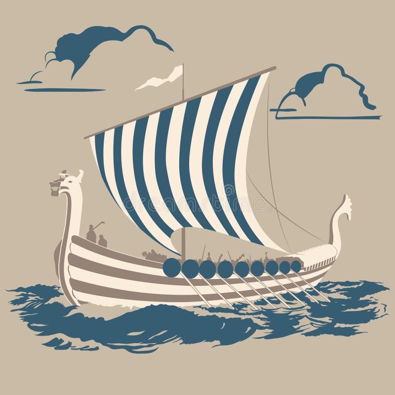 Корабль Викинга бесплатная иллюстрация