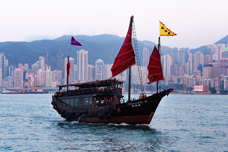 Корабль в заливе Виктории стоковые изображения