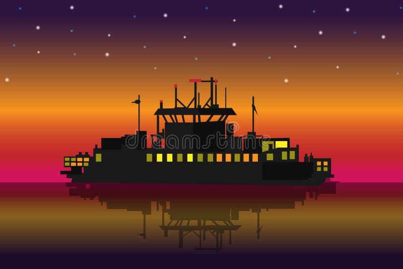 корабль малый иллюстрация вектора