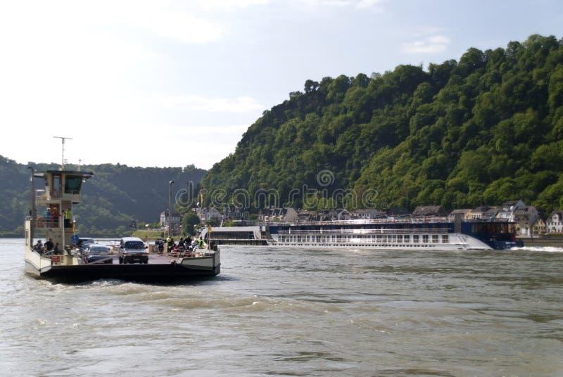 Корабль на Рейне стоковое изображение