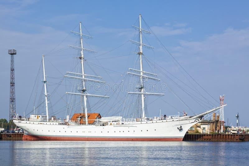 Корабль Gorch Fock музея на Stralsund стоковые изображения