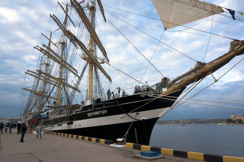 Корабль Kruzenshtern стоковые фотографии rf