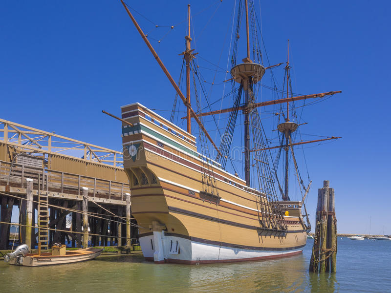 Корабль Mayflower II, Плимут, Массачусетс, США стоковое фото