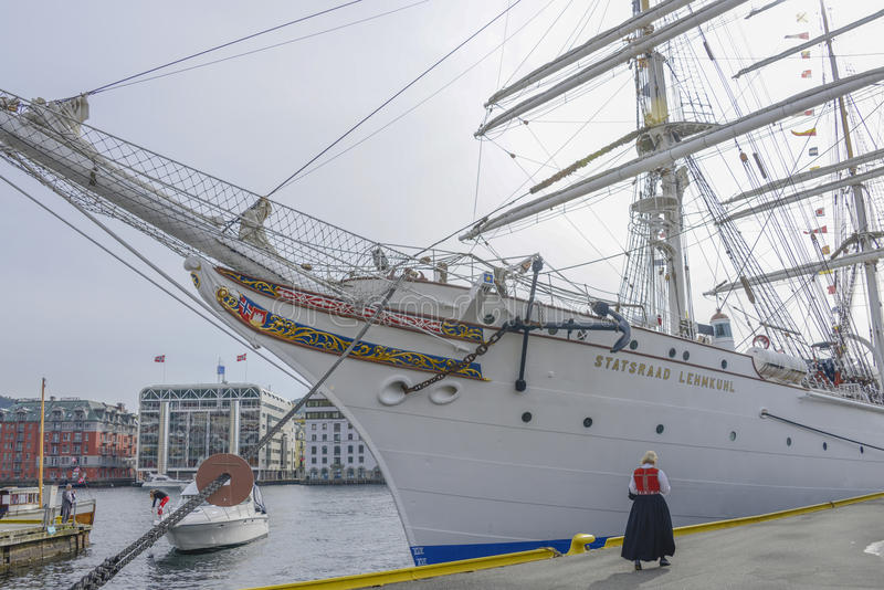 Корабль Statsraad Lehmkuhl стоковое фото