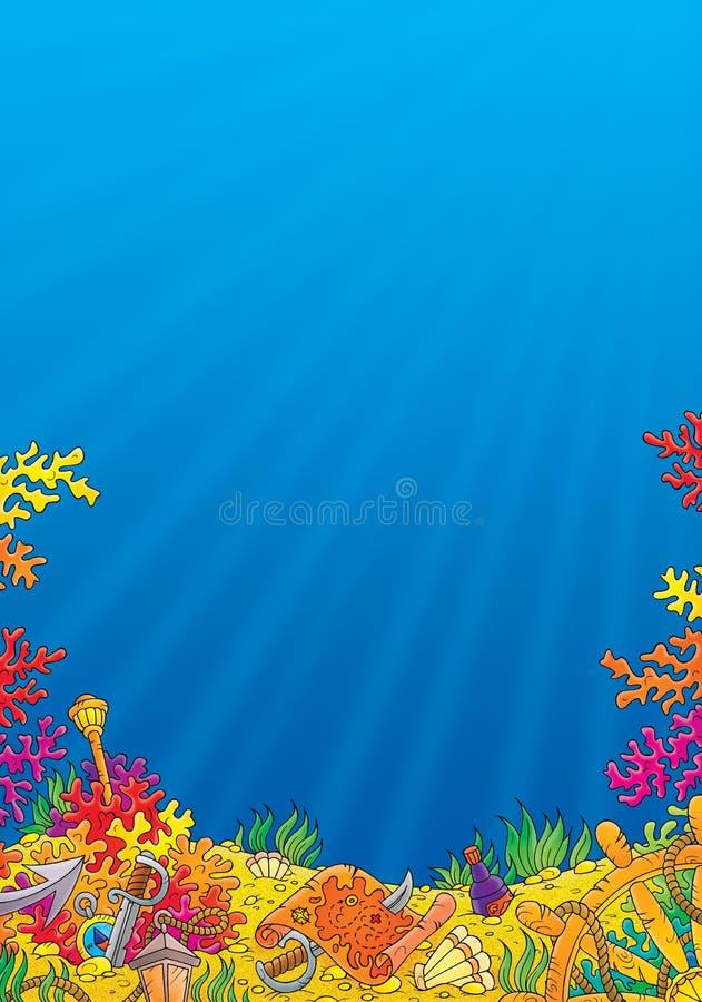 коралловый риф иллюстрация вектора