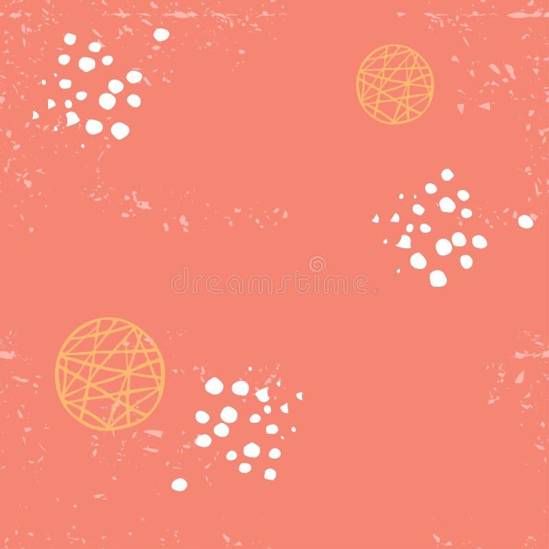 Коралл безшовной абстрактной картины вектора живя иллюстрация вектора