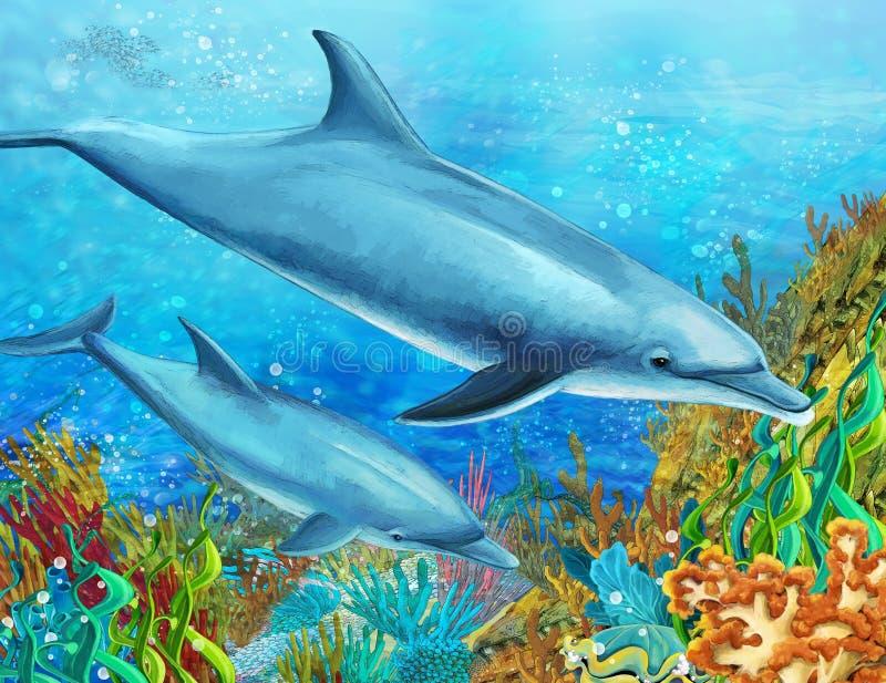 Коралловый риф - иллюстрация для детей бесплатная иллюстрация
