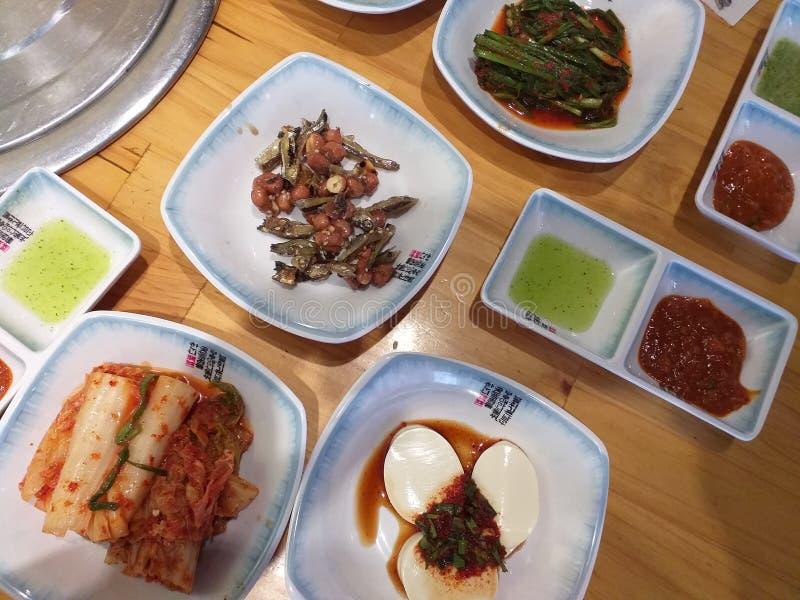 Корейская еда на обед стоковая фотография