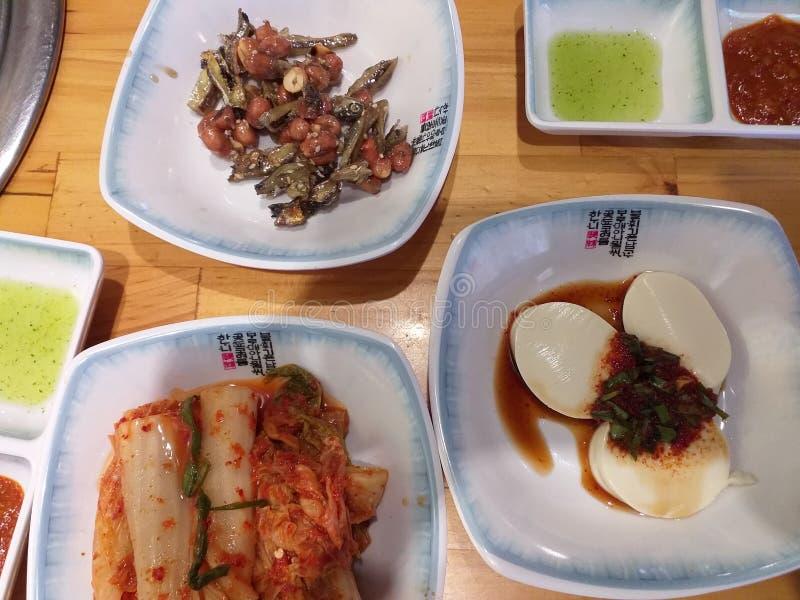 Корейская еда на обед стоковые изображения rf