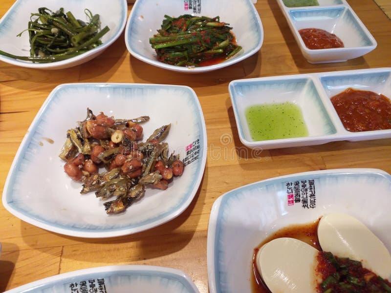 Корейская еда на обед стоковое фото