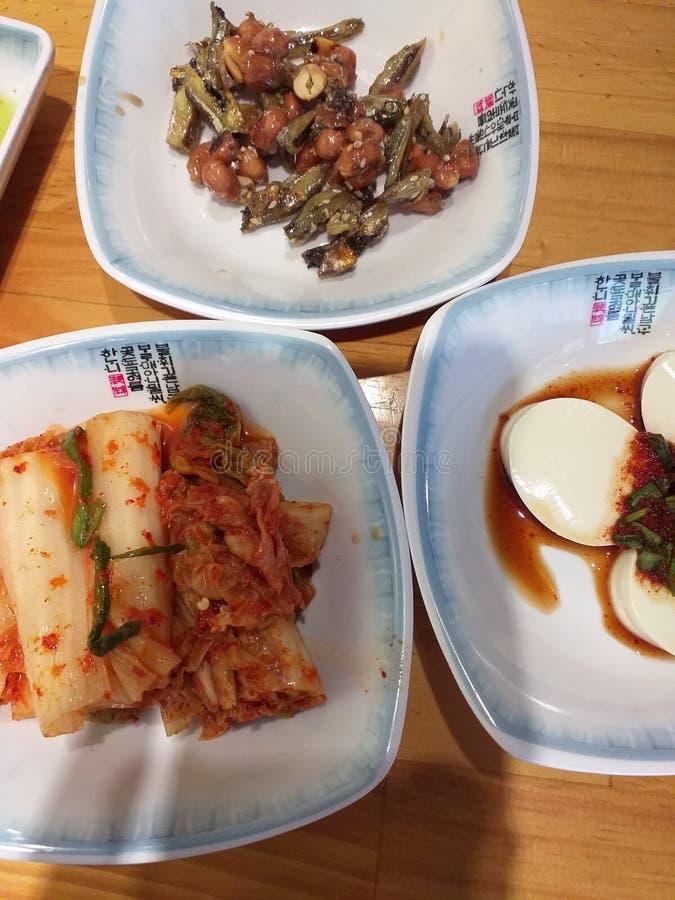 Корейская еда на обед стоковые фото