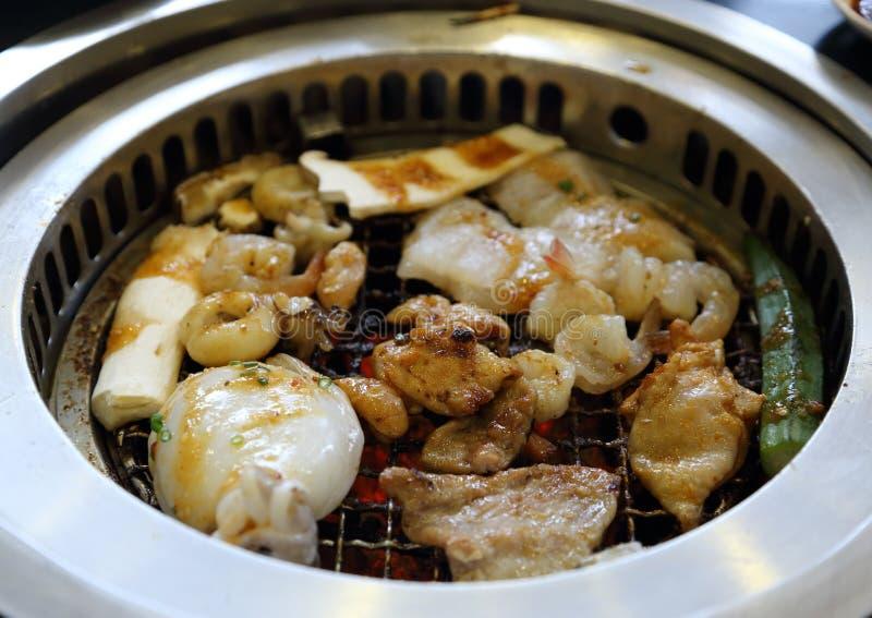 Корейская решетка BBQ стоковое изображение