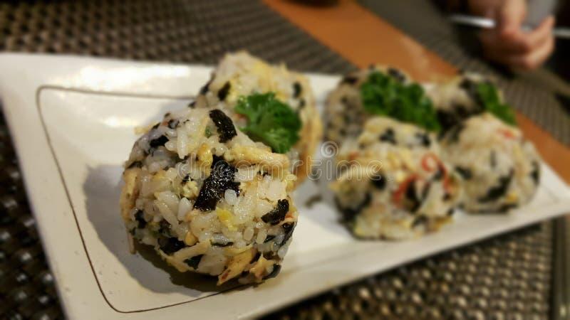 Корейские шарики риса стоковые изображения