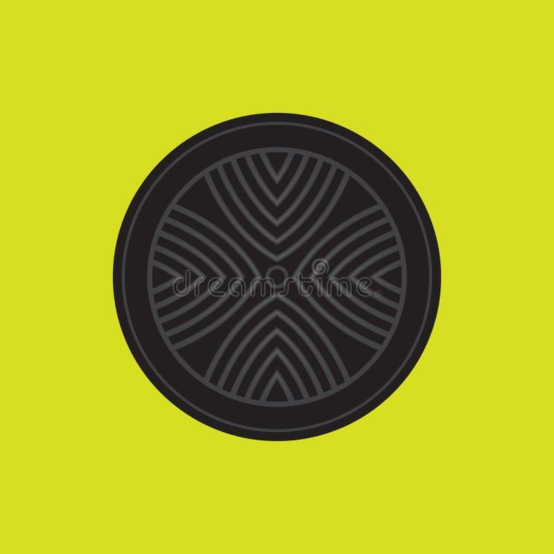 Корейский вектор плиты гриля барбекю иллюстрация вектора