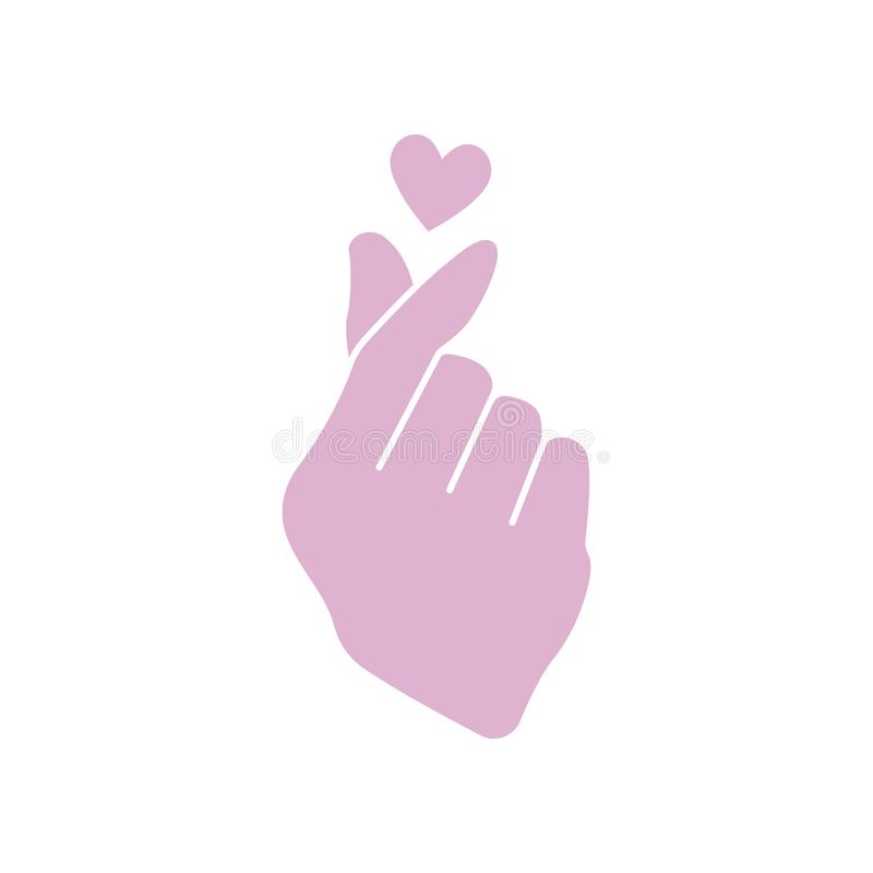 Корейский значок сердца пальца бесплатная иллюстрация