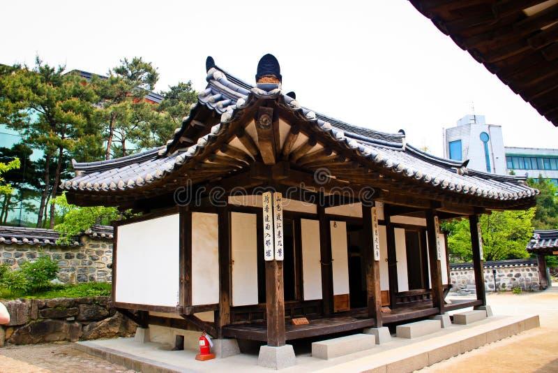Корейский дом села tranditional стоковое изображение rf