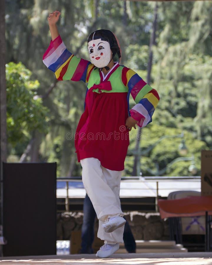 Корейский танцор стоковые изображения rf