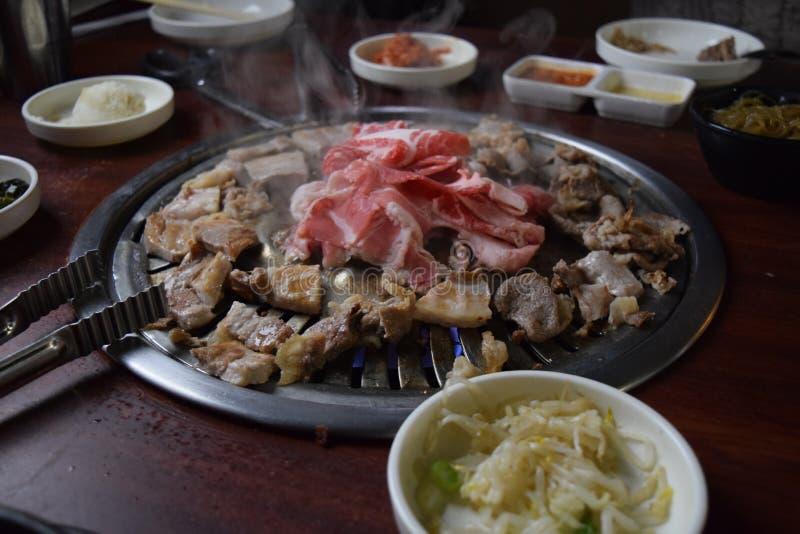 Корейское барбекю стоковое фото