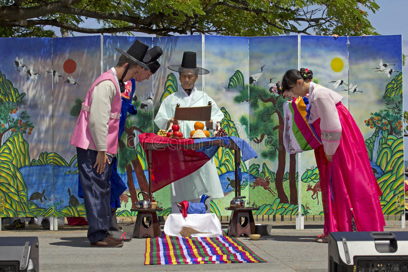 корейское венчание стоковая фотография