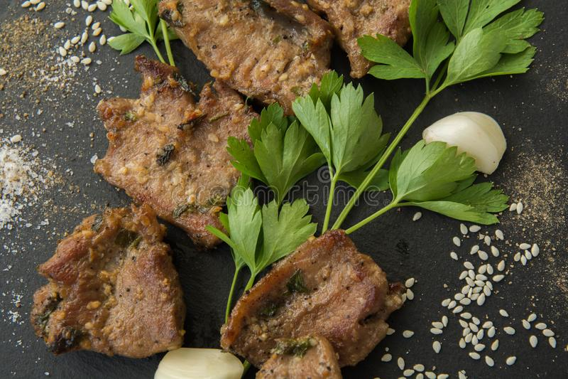 Корейское зажаренное мясо, bulgogi, мясо барбекю r стоковые фото
