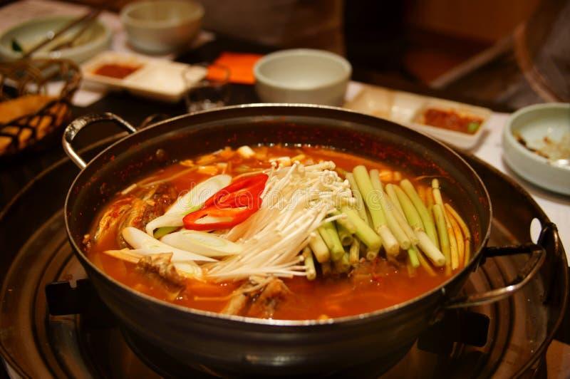 Корейское hotpot стоковое изображение rf