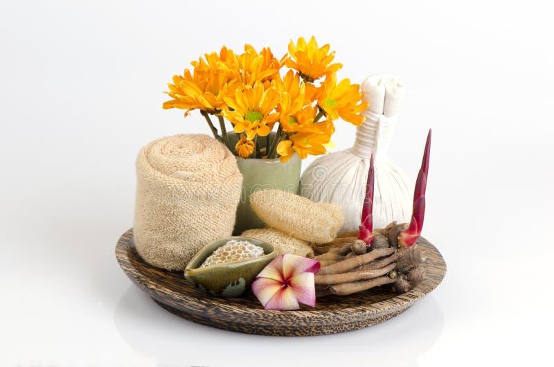 Корень имбиря scrub и помощь меда уменьшает воспаление и убивает бактерии или грибки на коже Кожа восстановления помощи моложавая стоковое фото rf
