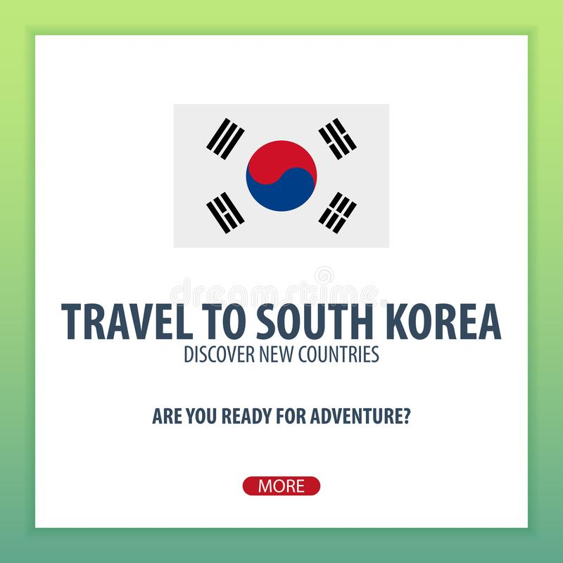 Корея южная переместить Откройте и исследуйте новые страны Отключение приключения бесплатная иллюстрация