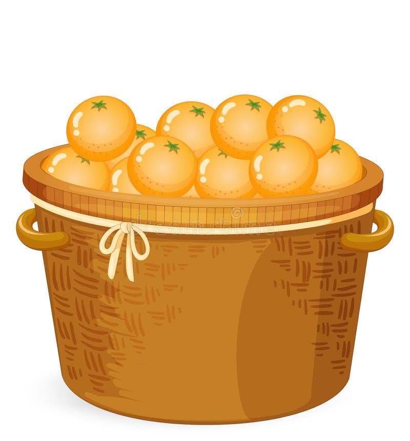 Корзина апельсина иллюстрация вектора
