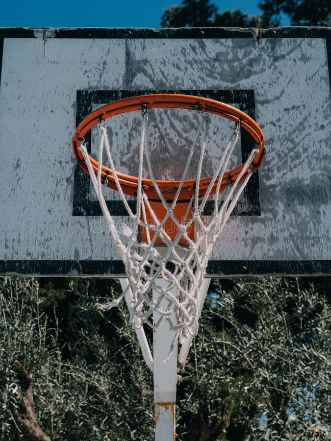 Корзина баскетбола от парка улицы стоковые фото