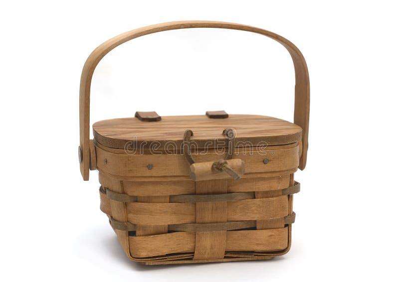 корзина деревянная стоковые фото