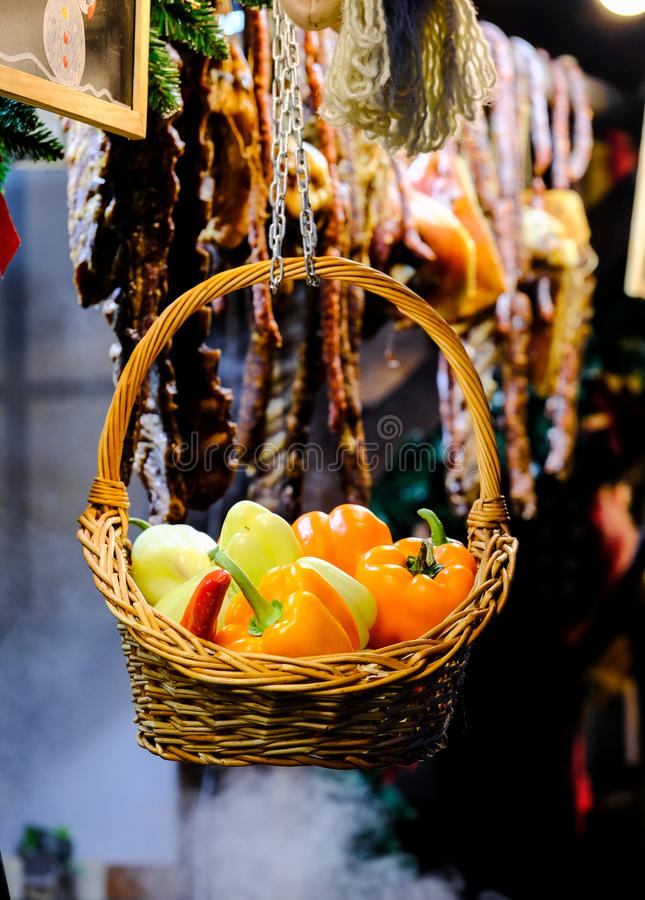Корзина перцев стоковая фотография rf