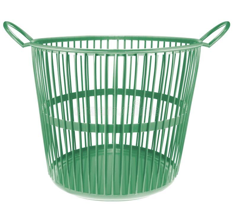 Корзина пластмассы зеленого цвета стоковые фотографии rf
