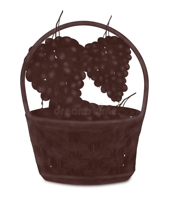 Корзина шоколада с связками винограда шоколада бесплатная иллюстрация