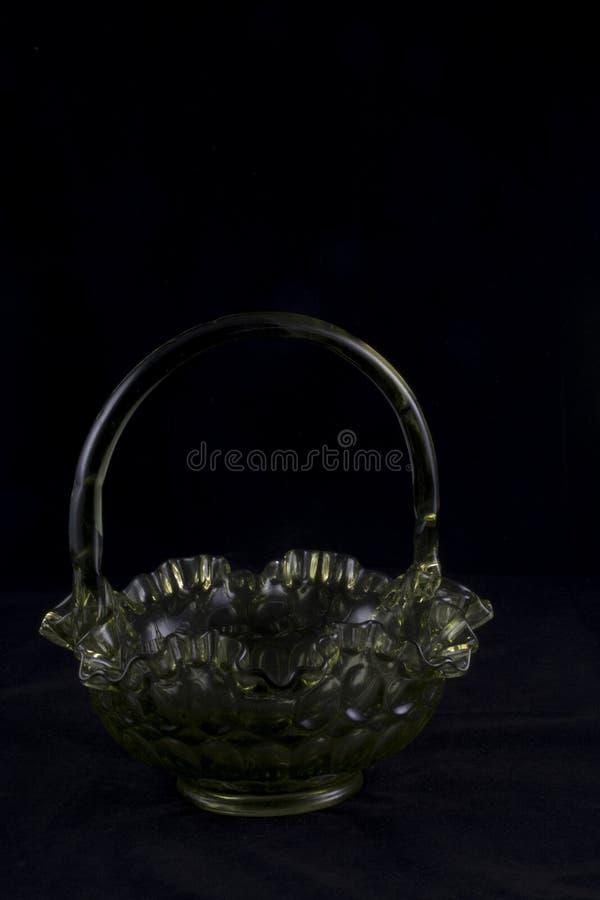 Корзина Fenton стеклянная стоковое изображение rf