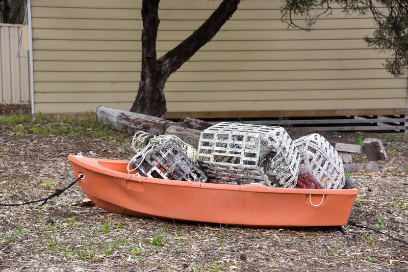 Корзины рыбной ловли стоковые фото