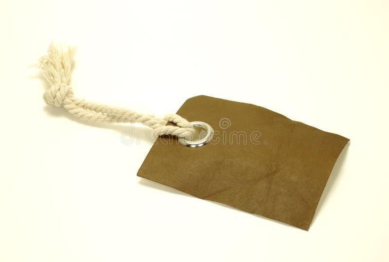 коричневая бирка стоковое фото