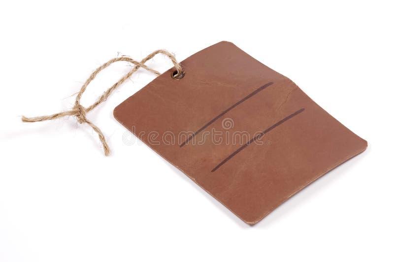 коричневая бирка стоковая фотография rf