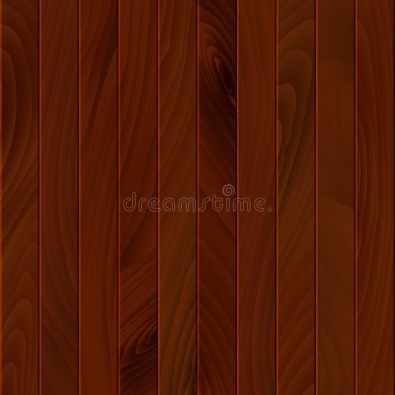 Коричневая деревянная текстура Деревообрабатывающая поверхность пола или стены Фон древесины или обои Иллюстрация вектора иллюстрация вектора
