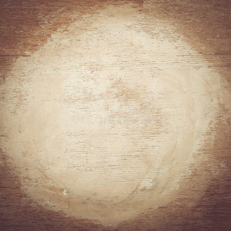 коричневая деревянная текстура с белым космосом краски стоковая фотография