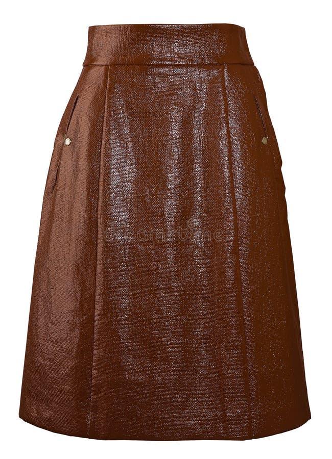 коричневая длинняя юбка стоковая фотография rf