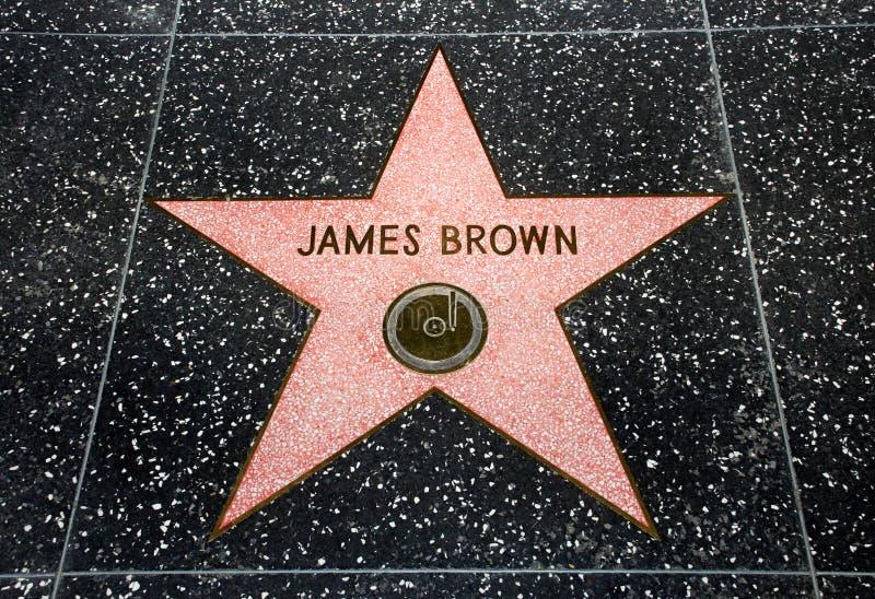 коричневая звезда james стоковые изображения rf